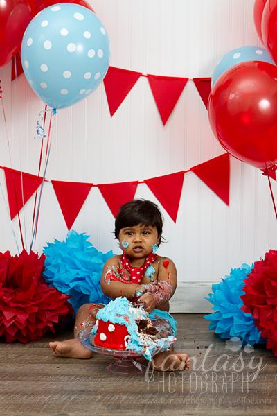 Winston Salem Cake Smash Photographer | Baby Birthday Photographers in Winston Salem